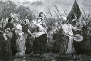 Les femmes marchent sur Versailles le 5 octobre 1789
