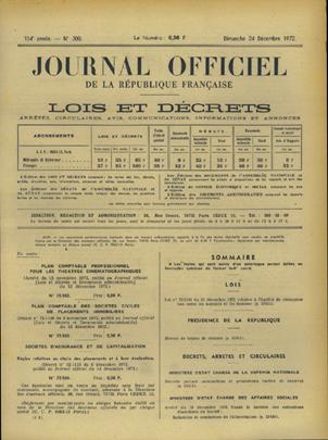loi n°72-1143 du 22 décembre 1972 relative à l'égalité de rémunération entre les hommes et les femmes introduit le principe « à travail égal, salaire égal ».