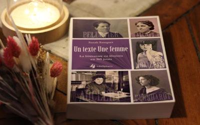 Un texte Une femme – La littérature au féminin en 365 jours